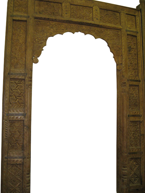 Antique Arch Carved Wooden Door/Window Frame From India - Rockingham ...
