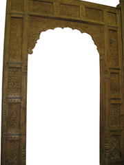 Antique Arch Carved Wooden Door/Window Frame From India