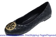 Hot sale Tory Burch Quinn Quilted Patent Ballerina Flat Shoes Free shi