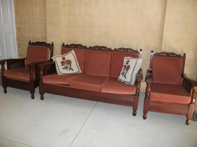 Jacobean Lounge Suite Rockingham Furniture For Sale