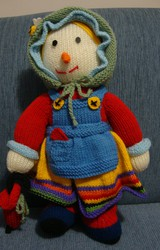 Soft Toy Handmade Doll Grandma  Scarecrow Family  Christmas Gift New