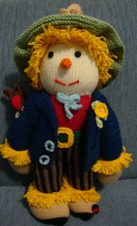 Soft Toy Handmade Knitted Doll Sam Scarecrow Family Christmas Gift New